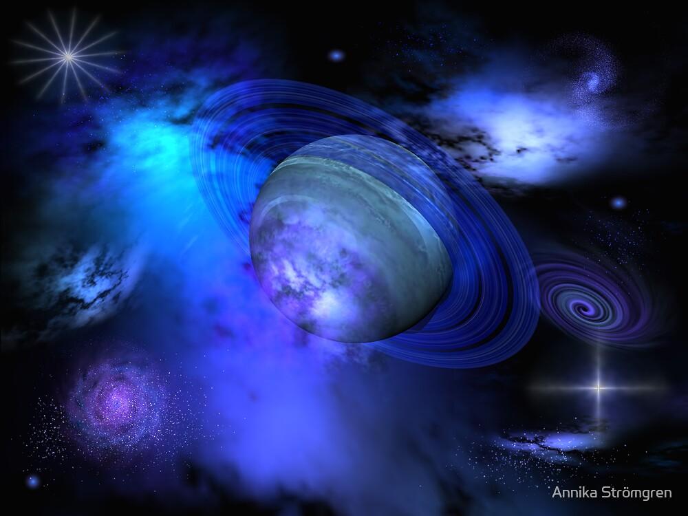 Blue galaxy by Annika Strömgren