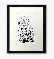 HELIO WHITE Framed Print