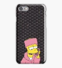 Black Goyard Killa Bart iPhone Case/Skin