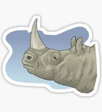 Victoriaceros, the rhinoceros of Lake Victoria Sticker