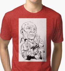 HELIO WHITE Tri-blend T-Shirt