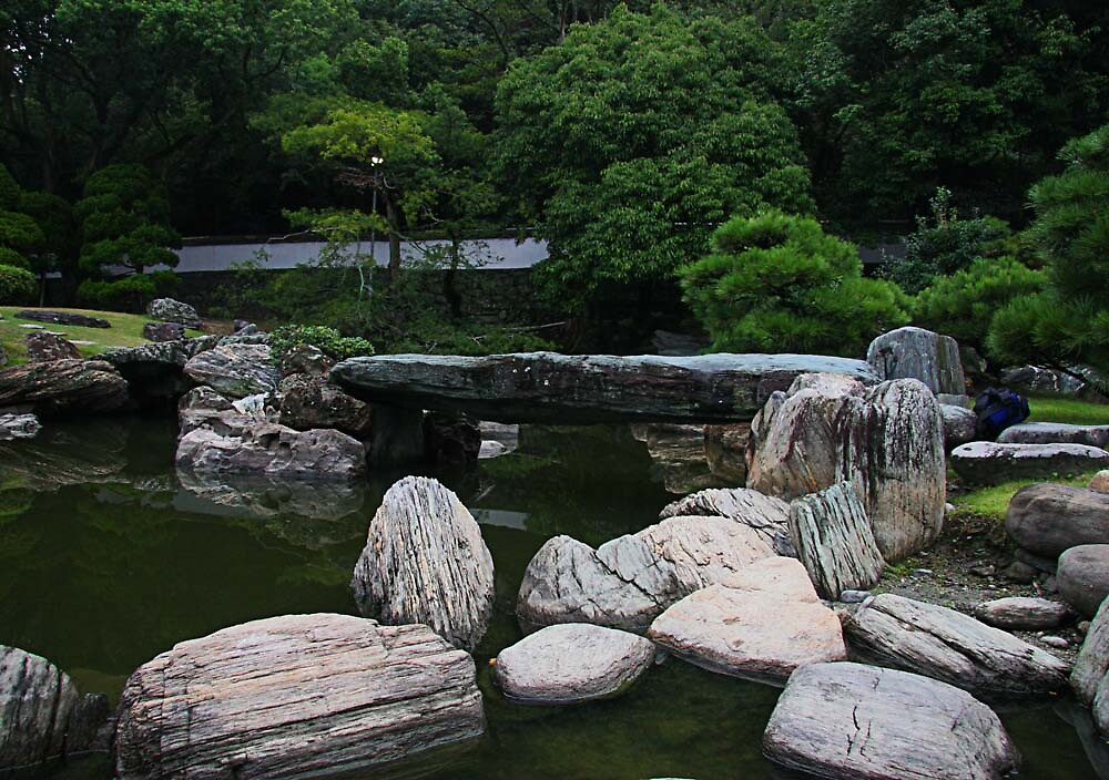 Garden of former Tokushima Palace by Trishy