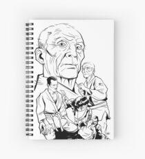 HELIO WHITE Spiral Notebook