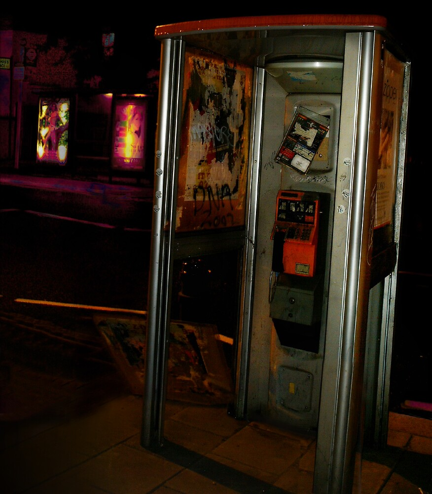 Murdered Phonebox, Hackney by Stephen Jackson