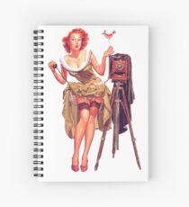 Pin-up photographer Spiral Notebook
