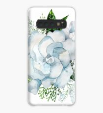 Watercolor gardenia and gypsophila vignette Case/Skin for Samsung Galaxy