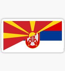 macedonia serbia flag Sticker
