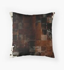 Cowhide Patchwork | Texture #home #lifestyle Throw Pillow