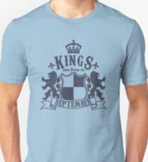 Kings are born in September Unisex T-Shirt