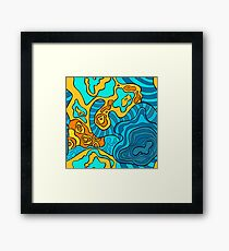 psychedelic wavy pattern Framed Print