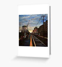 Boston- Green line E Train Museum Stop Greeting Card