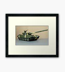 powerful Soviet tank T-72 Framed Print