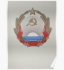 Latvia Coat of arms under USSR Poster
