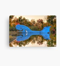 The Route 66 Blue Whale - Catoosa Oklahoma Canvas Print