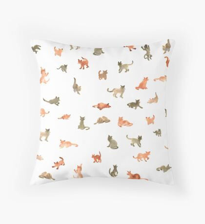 Chats Ecoline Throw Pillow