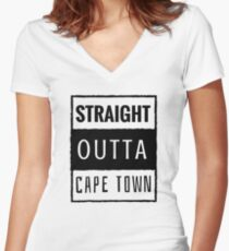 cape town Women's Fitted V-Neck T-Shirt