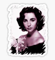 Elizabeth Taylor old colour Sticker
