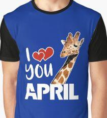 April The Giraffe T Shirt Graphic T-Shirt