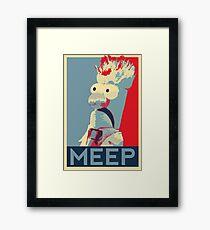 Meep Framed Print