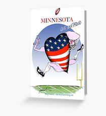 We Love Minnesota, tony fernandes Greeting Card