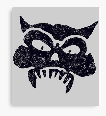 Battered Demon Skull v1 Canvas Print