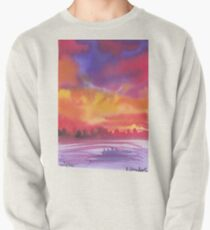 dramatic sunset Pullover