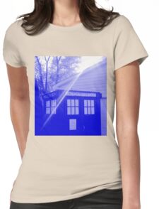 Blue and White T.A.R.D.I.S. Womens Fitted T-Shirt