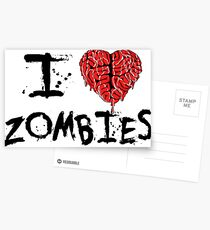 I heart Zombies Postcards