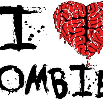 I heart Zombies by dontpanictees