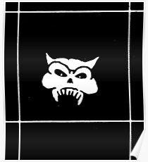 Battered Demon Skull v2 Poster