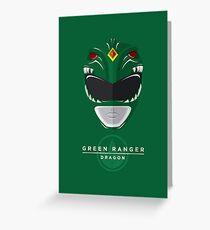 Green Ranger Greeting Card
