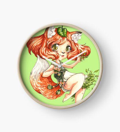 Fox Girl Clock