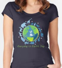 Everyday is Earth Day Women's Fitted Scoop T-Shirt
