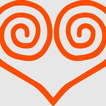 Dreamcast Swirl Heart USA Red by hoogafanter