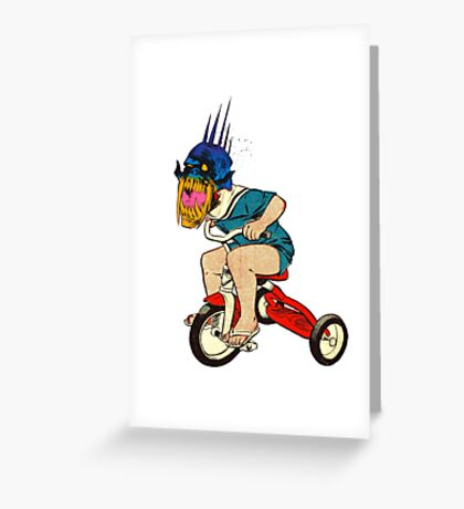 Demonic Trike Rider Greeting Card