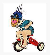 Demonic Trike Rider Photographic Print