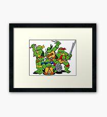 Turtle Ninja Framed Print