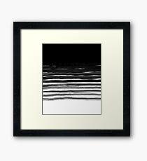 black brush  Framed Print