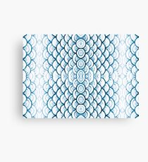 Fish Scale Pattern Canvas Print