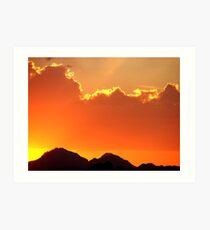Arizona Blaze Art Print