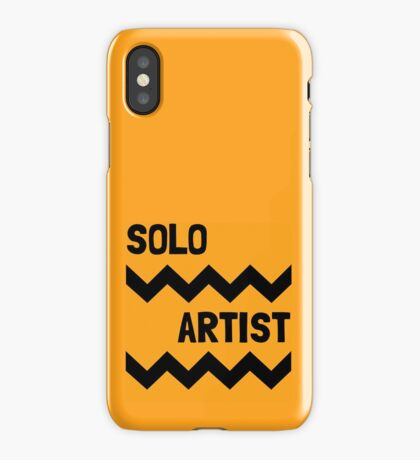 SOLO ARTIST AT WORK iPhone Case