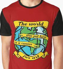 art world artistic cartoon canvas deep quote inspiration Graphic T-Shirt