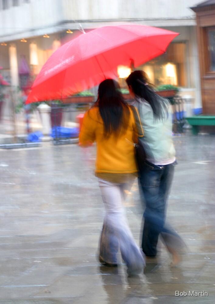 Red Umbrella by Bob Martin