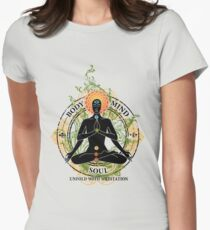 Yoga : Mind Body and Soul KUNDALINI Women's Fitted T-Shirt