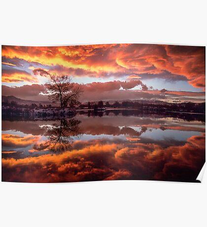 Rolling Thunder Sunset Poster