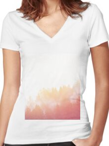 Landscape 10 Women's Fitted V-Neck T-Shirt