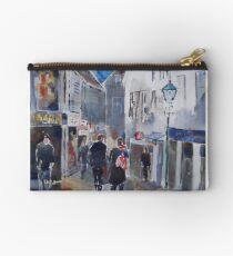 Lamp Post & Shops Stavanger Norway - City Art Gallery Studio Pouch
