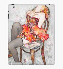 Young sexy woman in corset and fishnet stockings  iPad Case/Skin