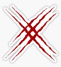 X-10 & X-23 Claw Rip Sticker