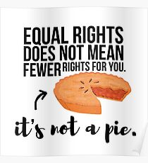 Equal Rights Aren't A Pie  Poster